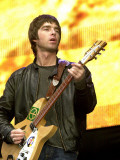 Noel Gallagher of Oasis, Performing at the Reebok Stadium in Bolton, July 2000 Photographic Print