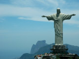 Christ the Redeemer on Corcovado Mountain, Rio De Janeiro, November 2004 Fotografisk tryk