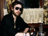 Shane Macgowan Singer with the Pogues Pop Group Fotografická reprodukce