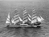 Barque Pamir in the English Channel after a 13,000 Mile Journey from Wellington, New Zealand Photographic Print
