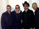 Members of U2 the Edge, Adam Clayton Larry Mullen and Bono Attending the MTV Awards Rotterdam 1997 Photographic Print