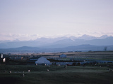 Farm in Mountain Valley - Rockies, Calgary, Banff Photographic Print