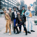 Village People Pop Band in Outfits on the Street, 1980 Photographic Print