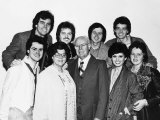 The Osmonds Family Pop Group with Parents in Britain for a Series of Concerts Fotografisk tryk
