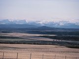 Farm Fields - Rockies, Foothills, Banff, Calgary Photographic Print