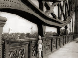A Young Boy on Tip Toes to Get a View from the Bridge, 1959 Photographic Print