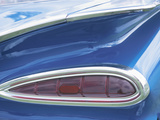 Tail Light on Blue Car Photographic Print