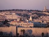 City at Dusk - Israel, Jerusalem Photographic Print