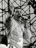 Freddie Mercury of the Rock Group the Queen in Concert at St. James Park in Newcastle, July 1986 Photographic Print