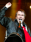 Singer Meatloaf Performs at the Belfast Odyssey, December 2003 Fotografisk tryk