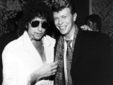 Bob Dylan American Folk Singer/Legend at Party Where He was Honoured by Many Including David Bowie Fotografisk tryk