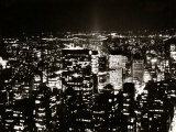 View of Manhattan Illuminated at Night Photographic Print