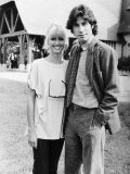 Olivia Newton-John with John Travolta Photographic Print