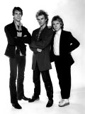 Sting with Andy Summer and Stewart Copeland, Pop Band the Police in Studio, 1980 Photographic Print