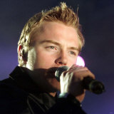 Lead Singer Ronan Keating, Boyzone Concert King&#39;s Hall Belfast, December 1998 Photographie