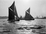 Two Traditional Thames Barges in the Lower Thames Estuary, 1935 Photographic Print