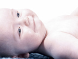 Baby Lying Down Photographic Print