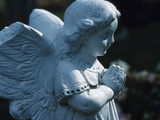Religious Stone Carving of Angel Photographic Print
