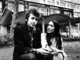 Bob Dylan Singer Songwriter with Joan Baez Fotografisk tryk