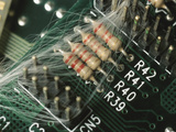 Optic Wires in Computer Processor Photographic Print
