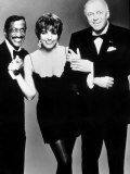 Frank Sinatra with Sammy Davis Junior and Liza Minnelli, April 1989 Fotografisk tryk