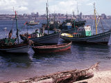 A Small Fishing Community on the Edge of the Bay at the Port of Luanda the Capital of Angola Photographic Print