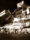 Famous French Cabaret Nightclub the Moulin Rouge Photographic Print