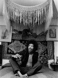 Jimi Hendrix World Famous Guitarist Fotografisk tryk