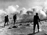 WW2 British Soldiers on Libyan Frontier 1941 Advancing Through a Smoke Screen Photographic Print