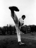 Jean-Jacques Burnel of the Stranglers Pop Group in His Judo Gear on Hampstead Heath Photographic Print