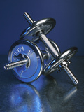 Steel Dumbbells for Workout Reproduction photographique