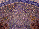 Interior Decorative Mosaic Tiling in the Chaharbach Mosque in Isfahan, Iran Photographic Print