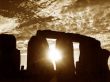 Sunset Over Stonehenge Wiltshire Photographic Print