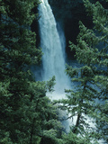 Water Falling Off Mountain at Helmcken Falls Photographic Print