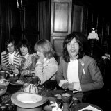 The Rolling Stones Promote Latest Release with a 1968 Dinner Party Photographic Print