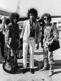 The Jimi Hendrix Experience Arriving at Heathrow Airport, August 1967 Fotografisk tryk