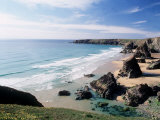 Bedruthan Steps Cornwall England Photographic Print