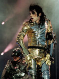Michael Jackson in Concert at the Don Valley Stadium in Sheffield, 1997 Lámina fotográfica