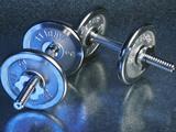 Steel Dumbbells Photographic Print