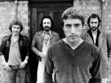 The Who with Band Members (L-R) Kenny Jones, John Entwhistle, Roger Daltrey and Pete Townshend Fotografisk tryk