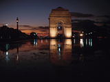 Majestic Gate of India at Picturesque Sunset Photographic Print