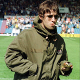 Liam Gallagher at Manchester City V Portsmouth Match, Maine Road Football Ground, August 1997 Photographic Print