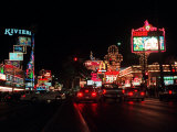 Las Vegas Boulevard Night Scenes Photographic Print