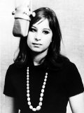 Barbra Streisand Aged 21 Making Her First Record Fotografisk tryk
