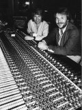 Benny and Bjorn Members of Abba are in Their Recording Studio, October 1998 Photographic Print