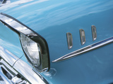 Headlight in Blue Car Photographic Print