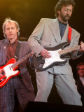 Eric Clapton and Mark Knopfler at the Nelson Mandela Concert, 1988 Photographic Print