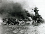 German Pocket Battleship Graf Spee Sinking Following Battle of River Plate in Uruguay, WW2, 1940 Photographic Print