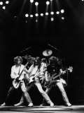 Status Quo Pop Group Singing on Stage Fotoprint