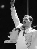 Queen Rock Group, Freddie Mercury, Queen in Concert at Wembley Stadium, London Fotografisk tryk